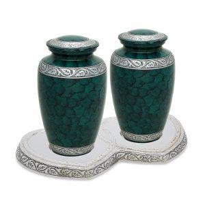 Royal Green Companion Urn Set