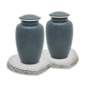 Grey Wolf Granite Companion Urn Set