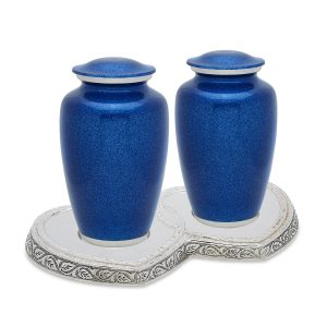 Blue Pearl Companion Urn Set