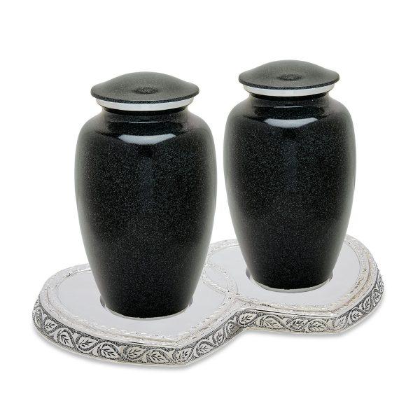 Black Granite Companion Urn Set