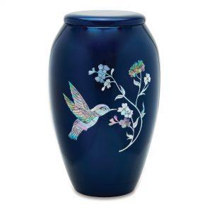 Blue Hummingbird Adult Urn