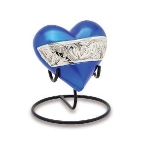 Berkshire Silver Blue Keepsake Heart