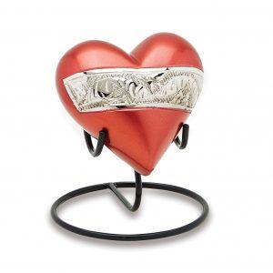 Berkshire Silver Red Keepsake Heart