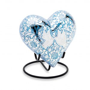 Blue Loving Doves Keepsake Heart