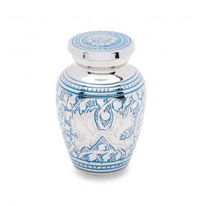 Blue Loving Doves Token Urn