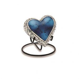 Grecian Blue Keepsake Heart