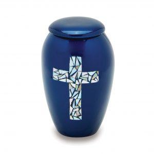 Blue Cross Token Urn
