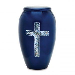 Blue Cross Adult Urn