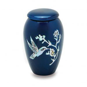 Blue Hummingbird Token Urn