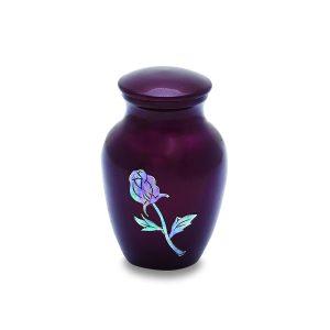 Burgundy Rose Token Urn