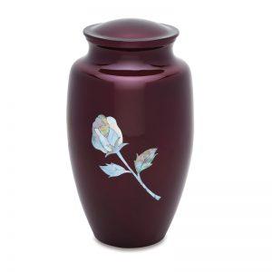 Burgundy Rose Adult Urn