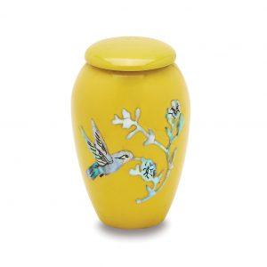 Yellow Hummingbird Token Urn