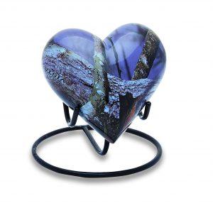 Purple Camo Keepsake Heart