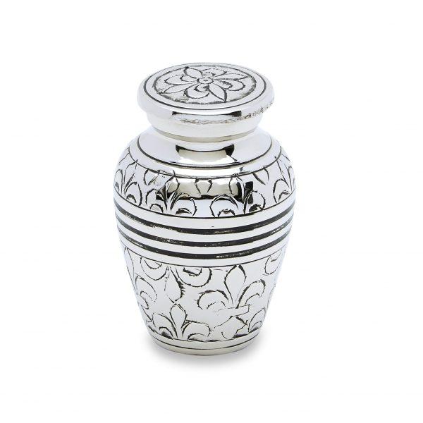 Silver Fleur De Lis Token Urn