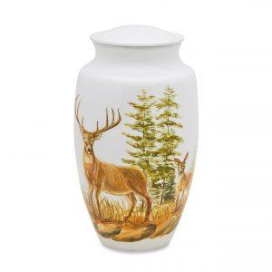 Two Deer Adult Urn