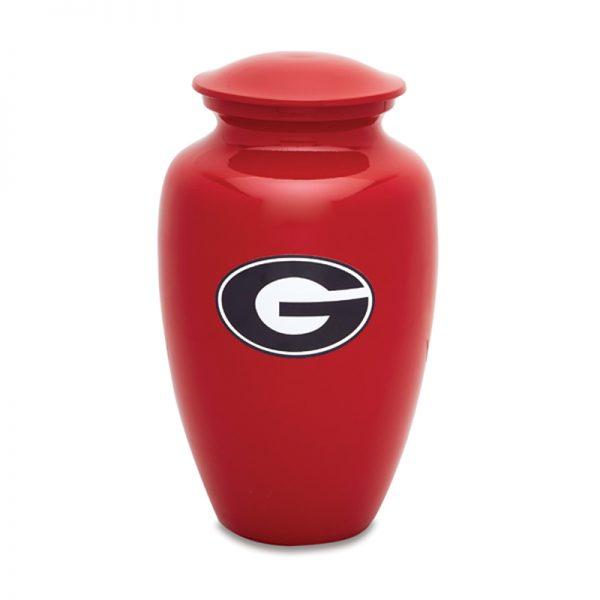 Red UGA Adult Cremation Urn
