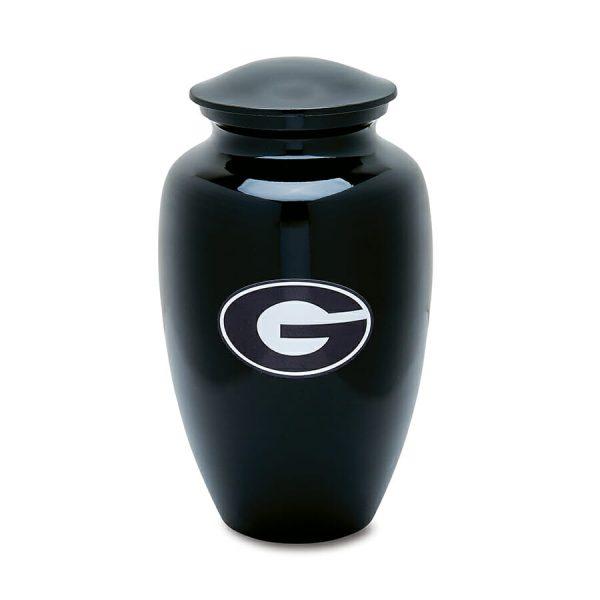 Black Alternate UGA Adult Cremation Urn