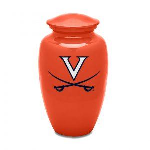 UVA Orange Adult Urn