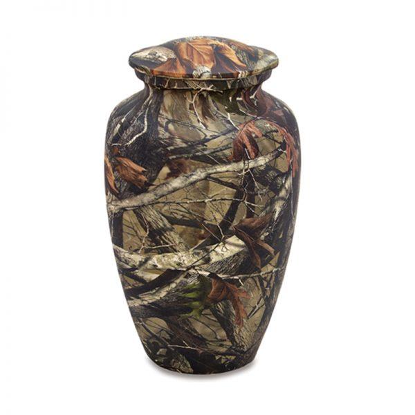 Woodland Camo Adult Urn
