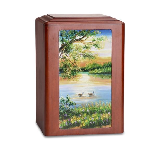Duck Pond Wood Adult Urn