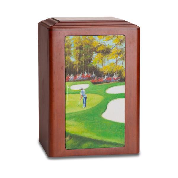 Golf Paradise Wood Urn