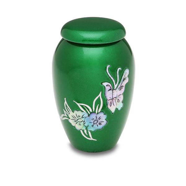 Green Butterfly Token Urn
