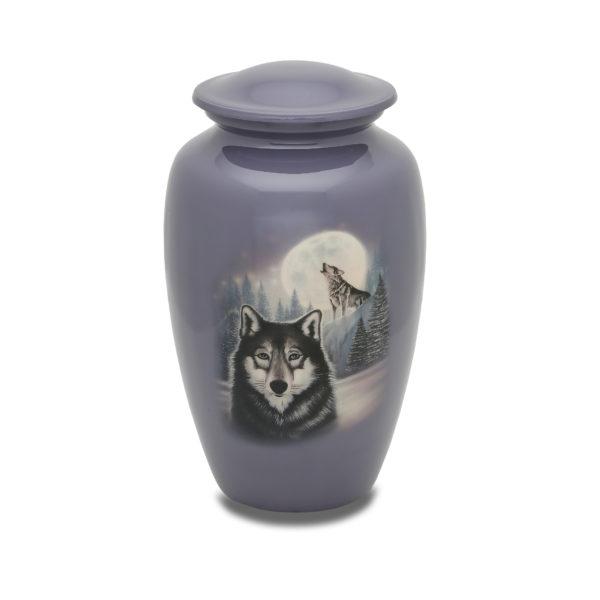 Moonlit Wolf Adult Urn