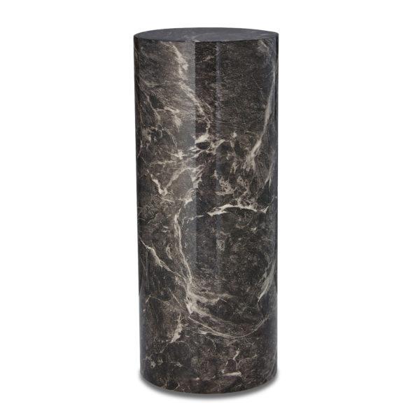Brown Marble Cylinder Urn